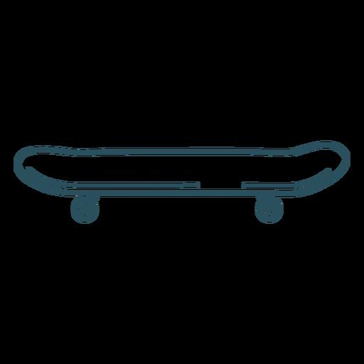 Skateboard side view stroke