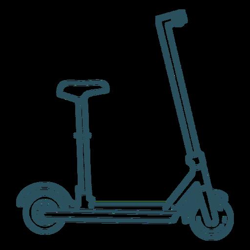 Scooter transport stroke