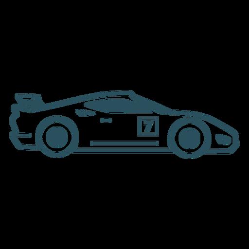 Motorsport car stroke