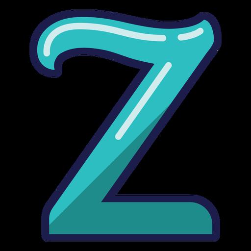 Curly Z glossy alphabet