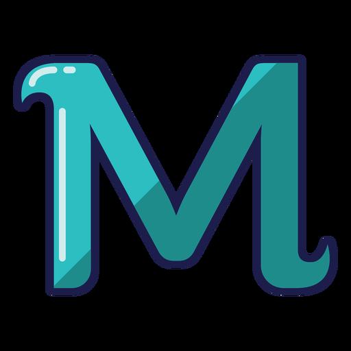 Curly M glossy alphabet