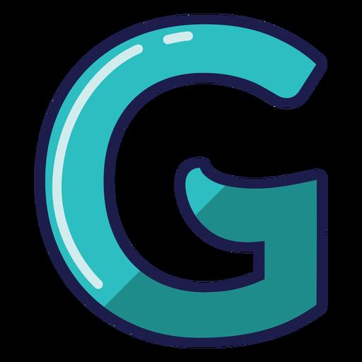 Curly G glossy alphabet