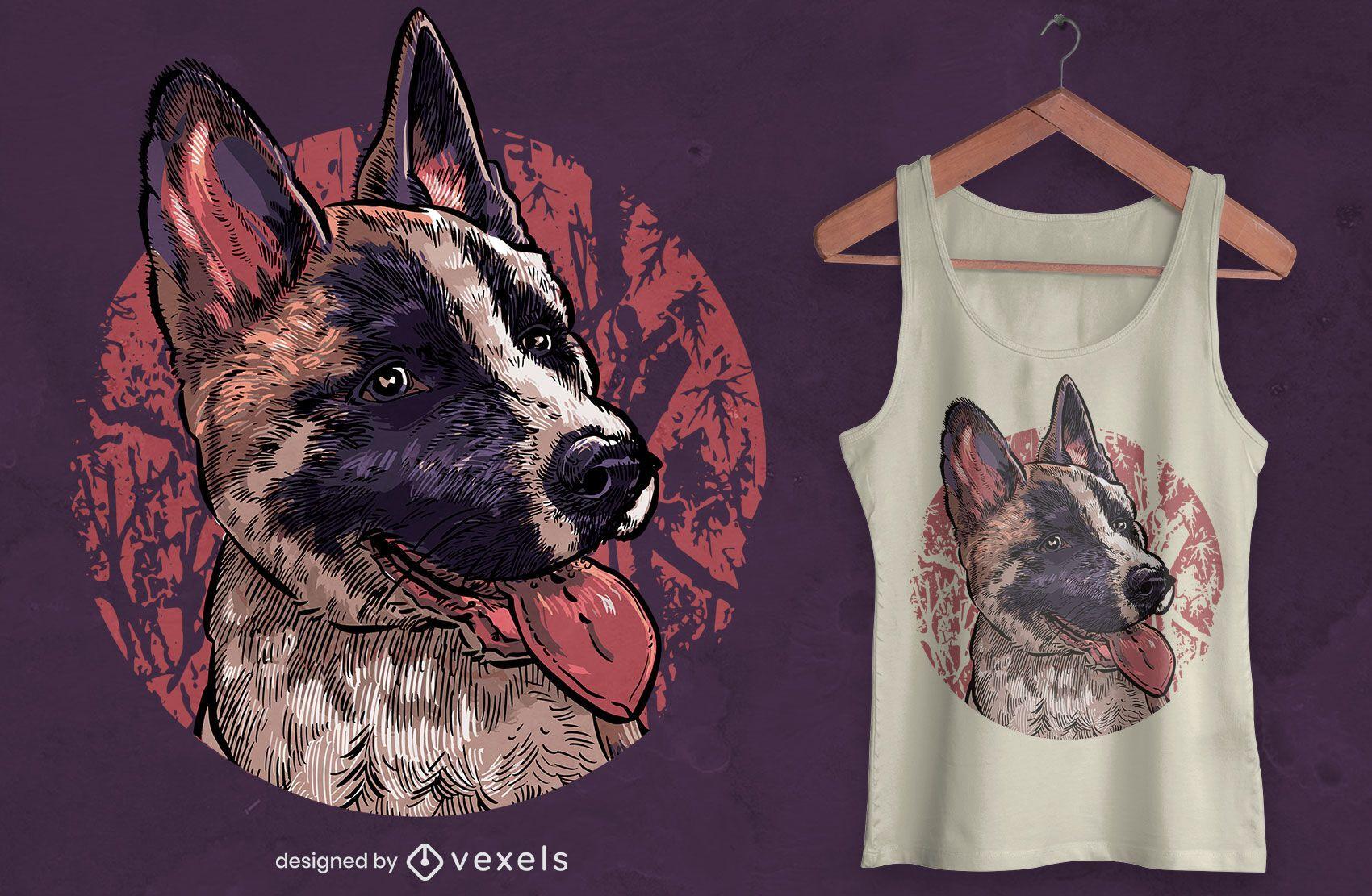 Puppy dog illustration t-shirt design