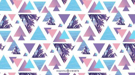 Diseño de patrón de palmera de verano geométrico