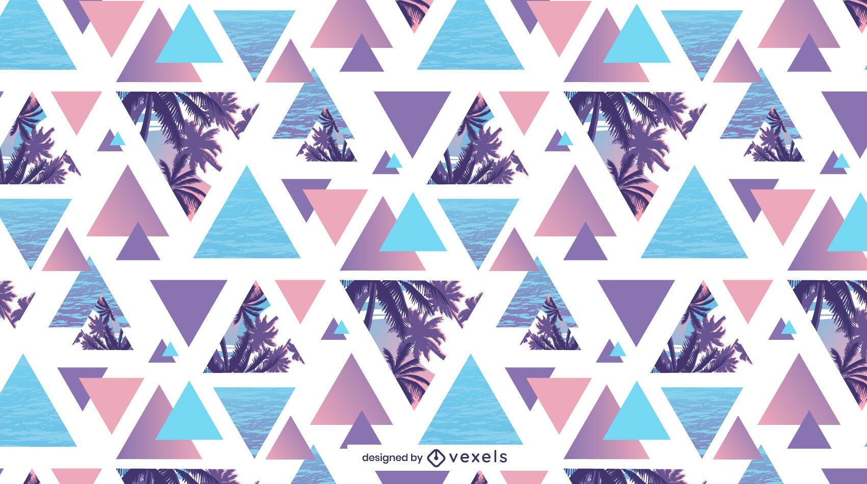 Geometric summer palm tree pattern design