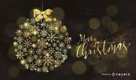 Elementos de vetor de Natal ouro