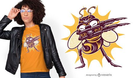 Funny bee bug dabbing t-shirt design
