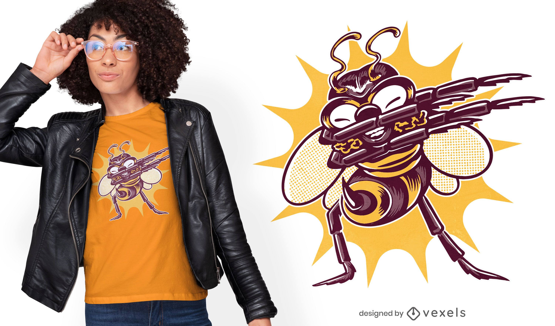Diseño de camiseta divertida abeja dabbing