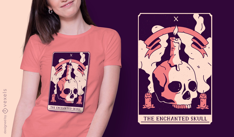 Skull mystical tarot card t-shirt design