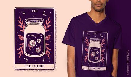 Potion mystical tarot card t-shirt design