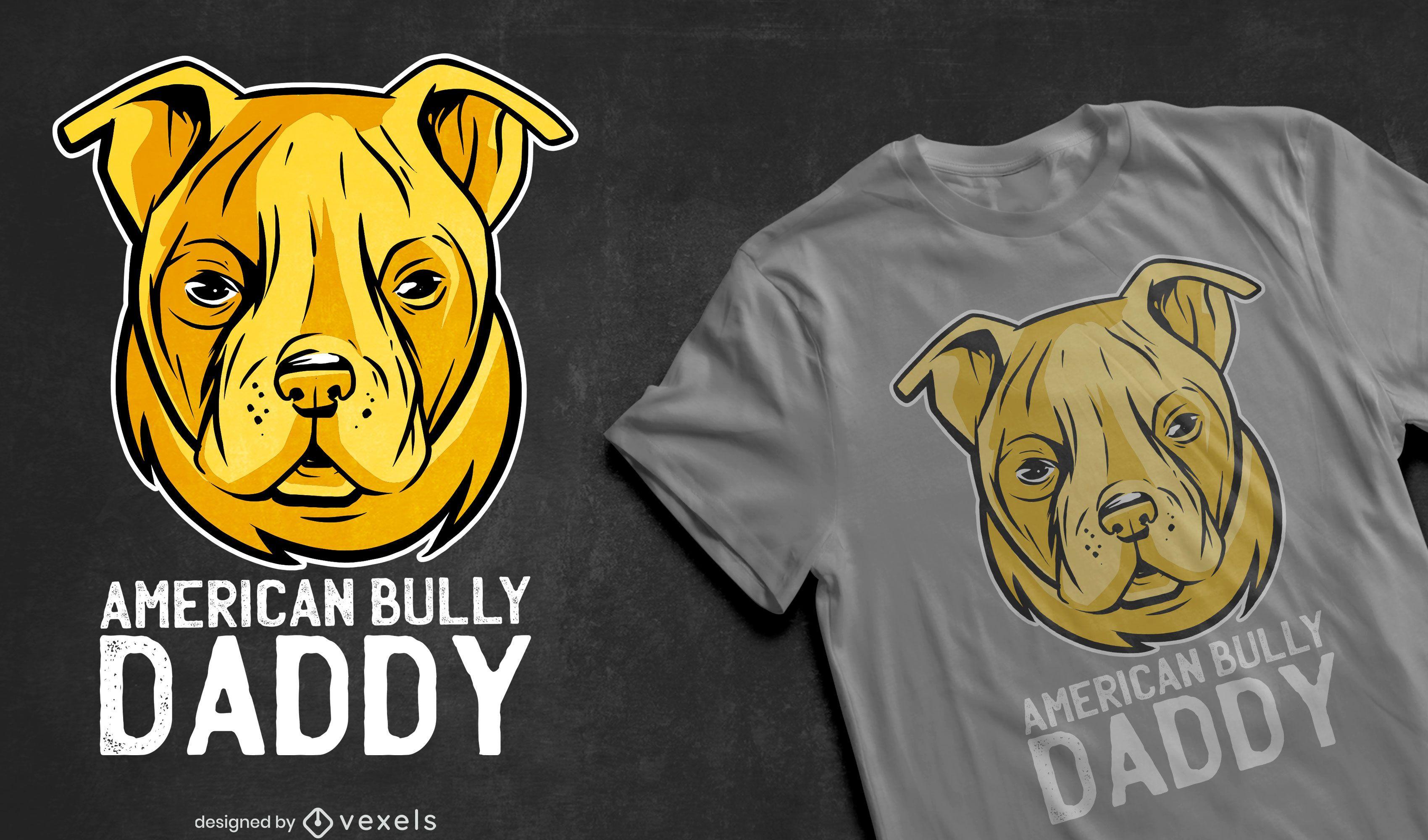 Cute pitbull dog quote t-shirt design