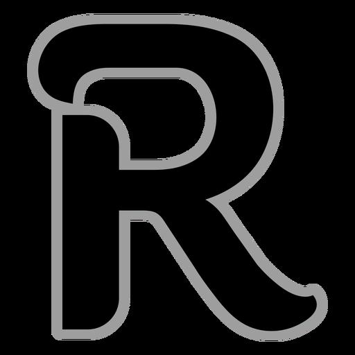 Curly R flat alphabet