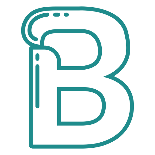 Curly B stroke alphabet