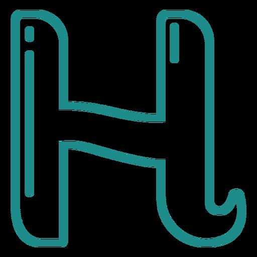 Curly H stroke alphabet