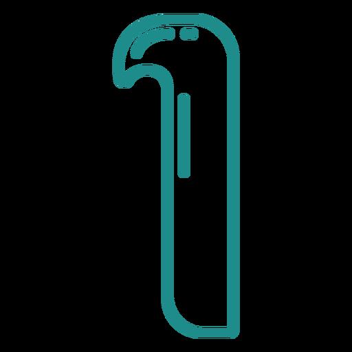 Curly I stroke alphabet