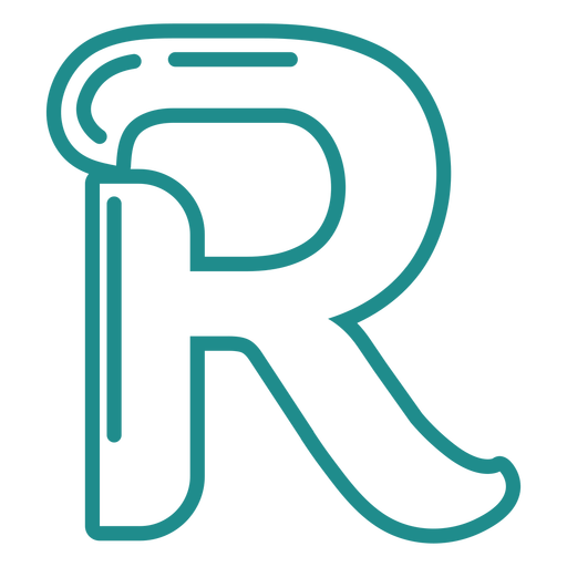 Curly R stroke alphabet