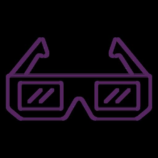 Traço de óculos 3D retro
