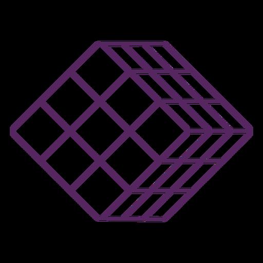 Rubik's cube puzzle stroke