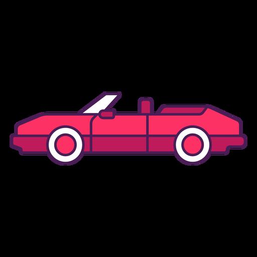 Convertible car color stroke