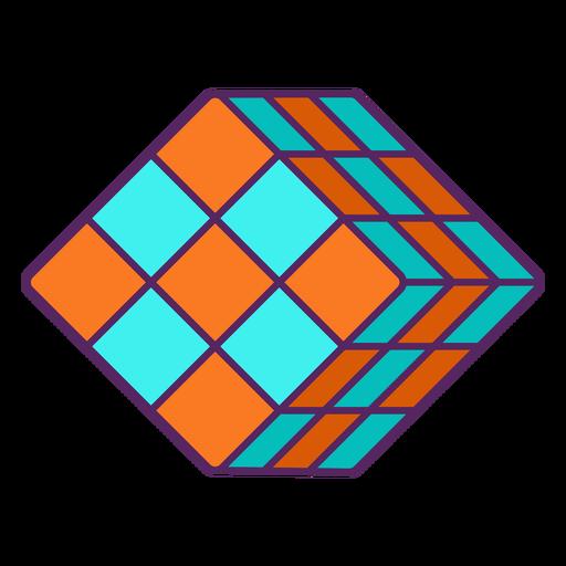 Rubik's cube color stroke