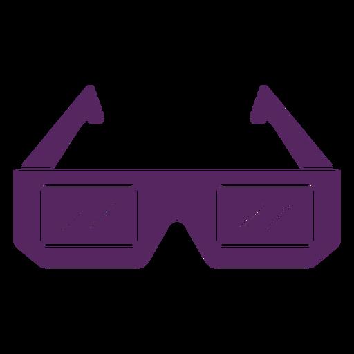 Retro 3D glasses cut-out