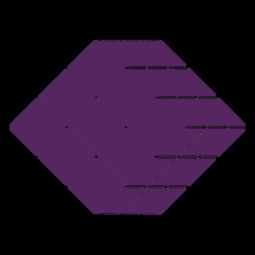 Rubik's cube puzzle cut-out