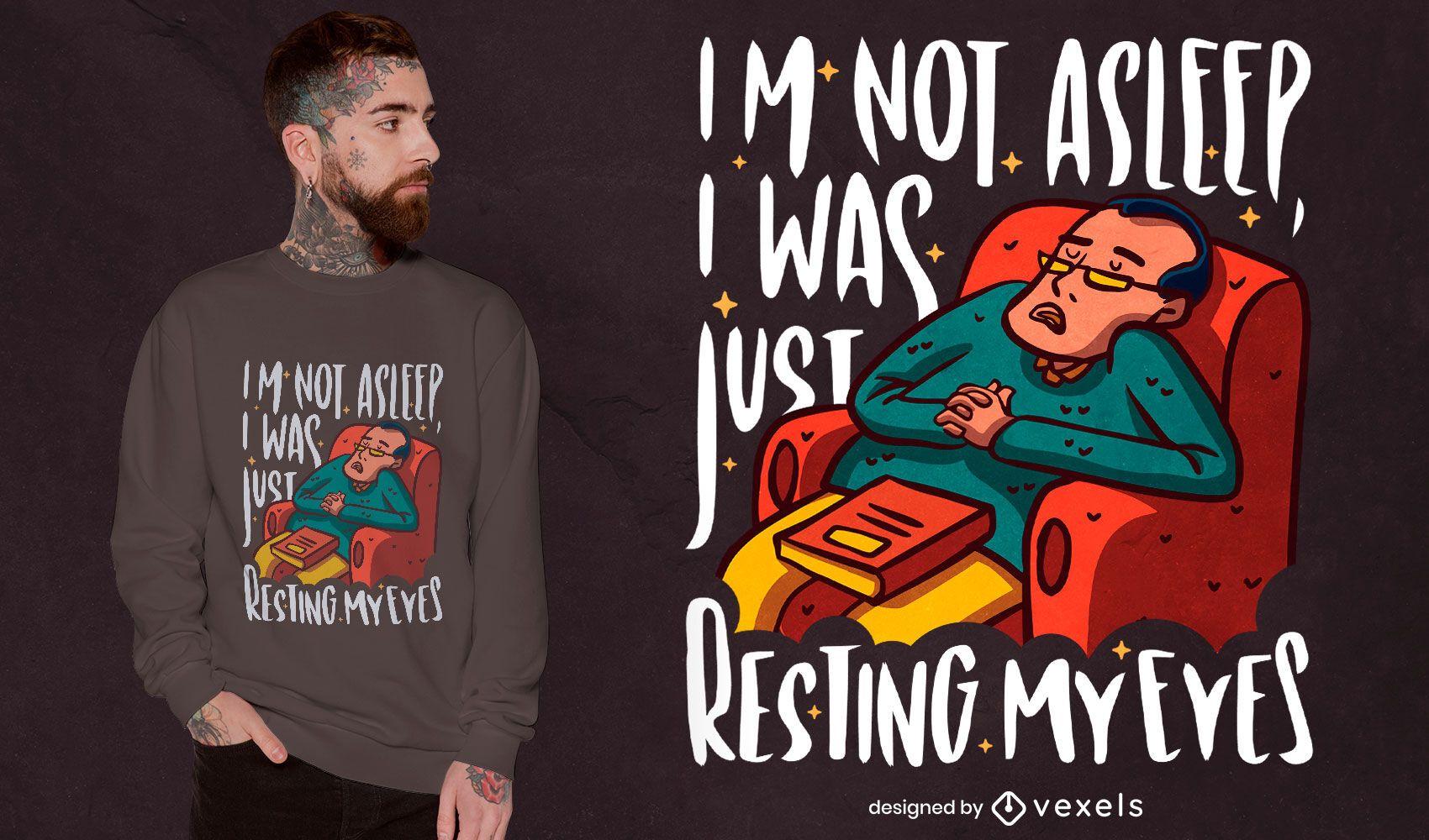 Man resting eyes t-shirt design
