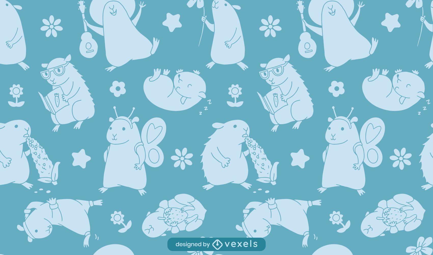 Guinea pig activities pattern design