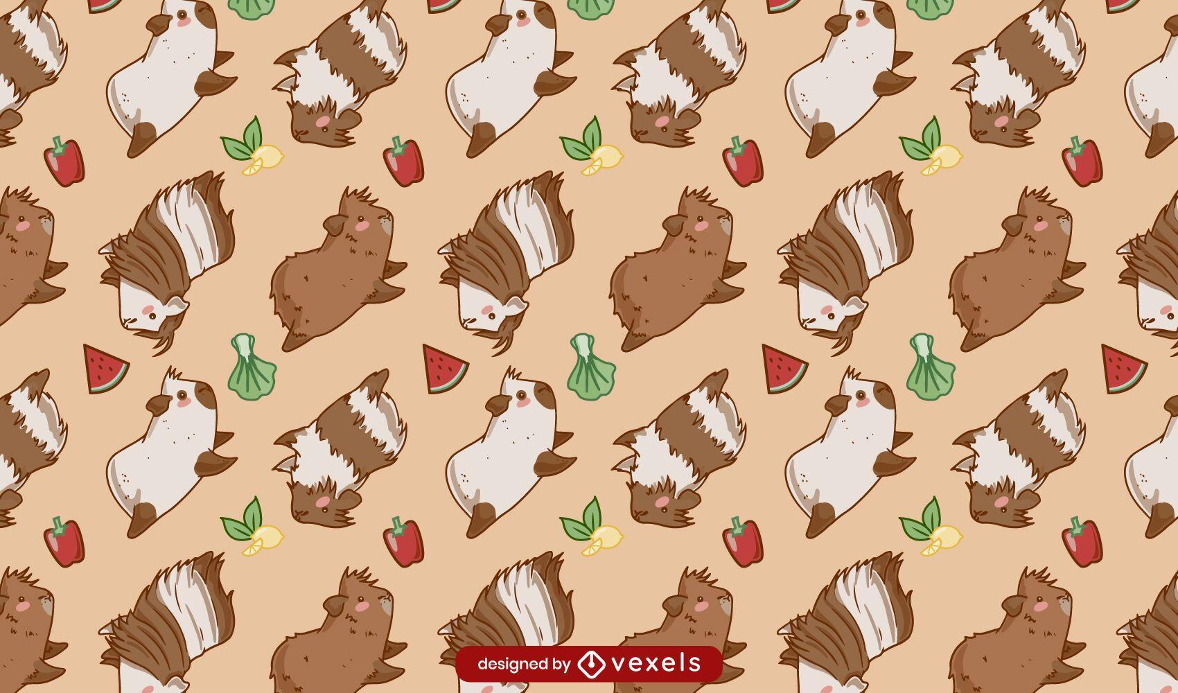 Cute guinea pigs pattern