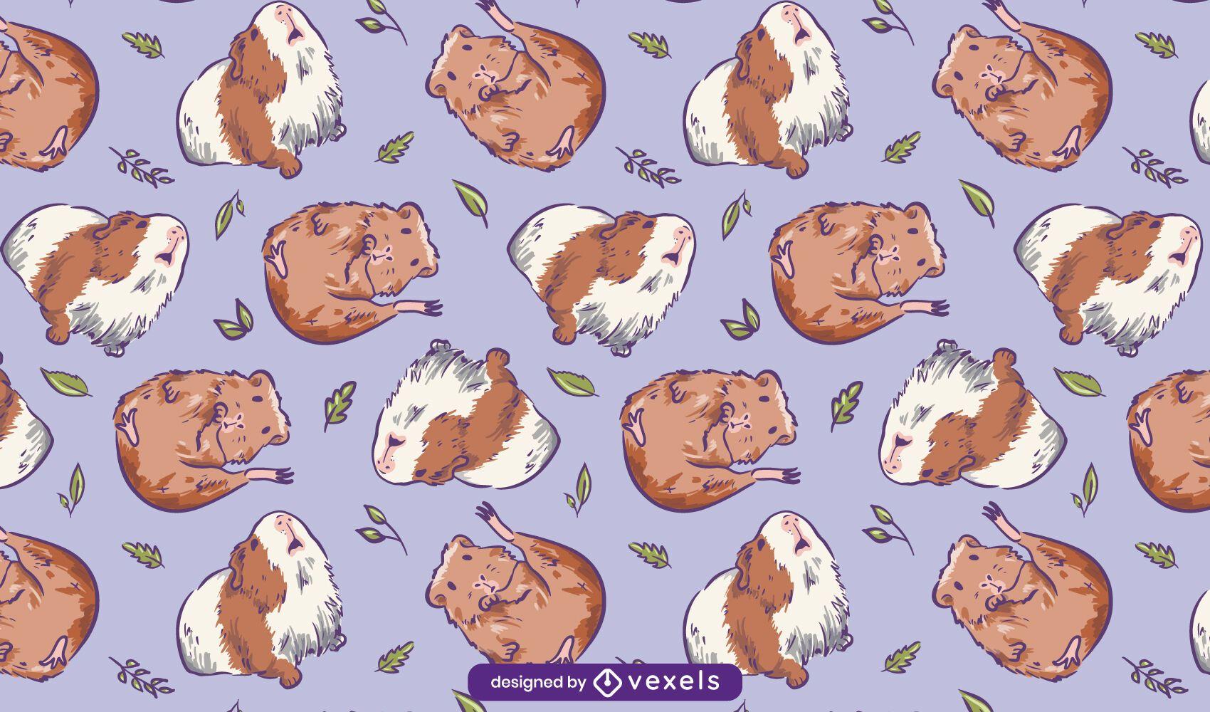 Guinea pigs cute pattern