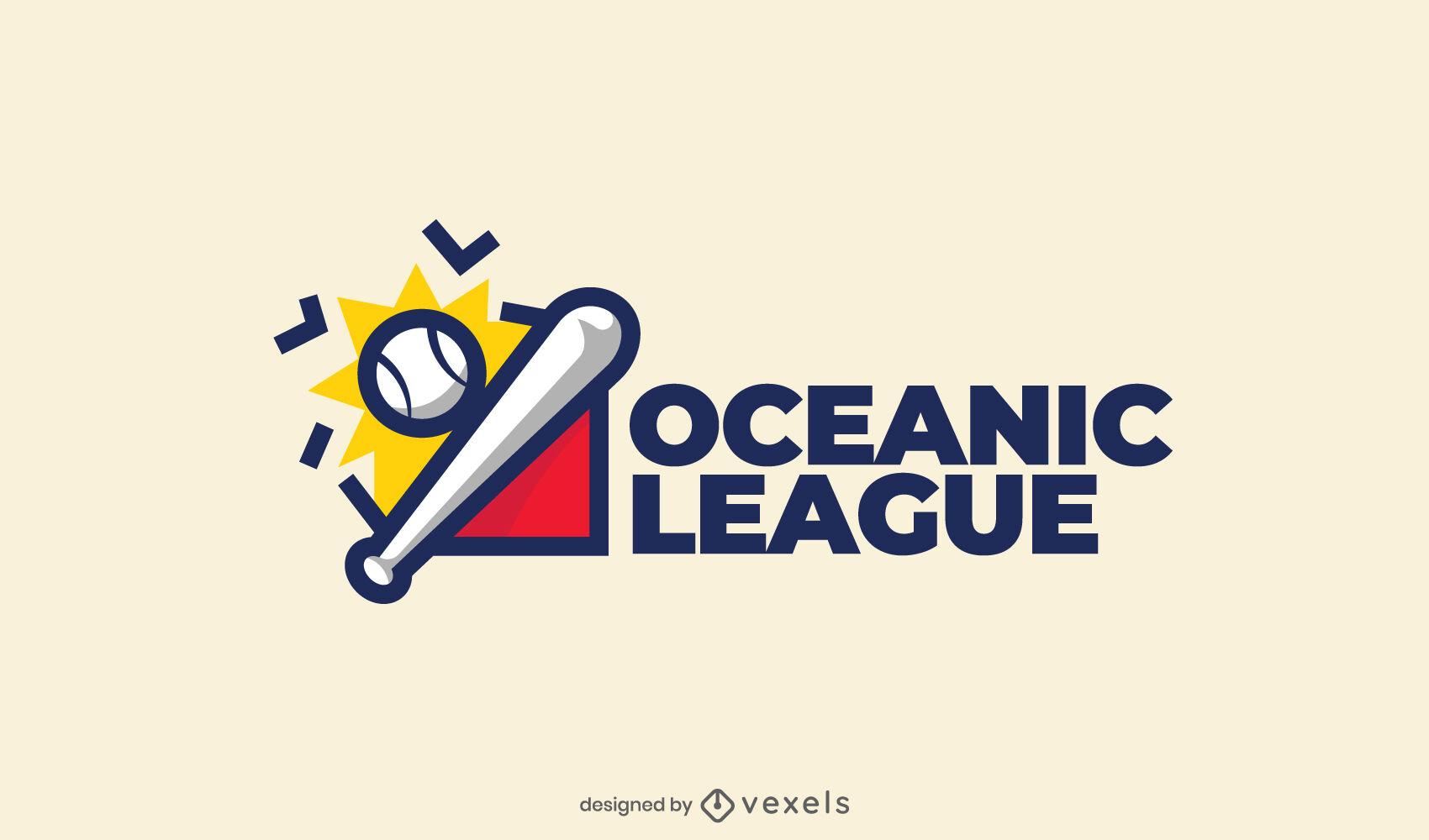Baseball-Farbstrich-Logo-Design