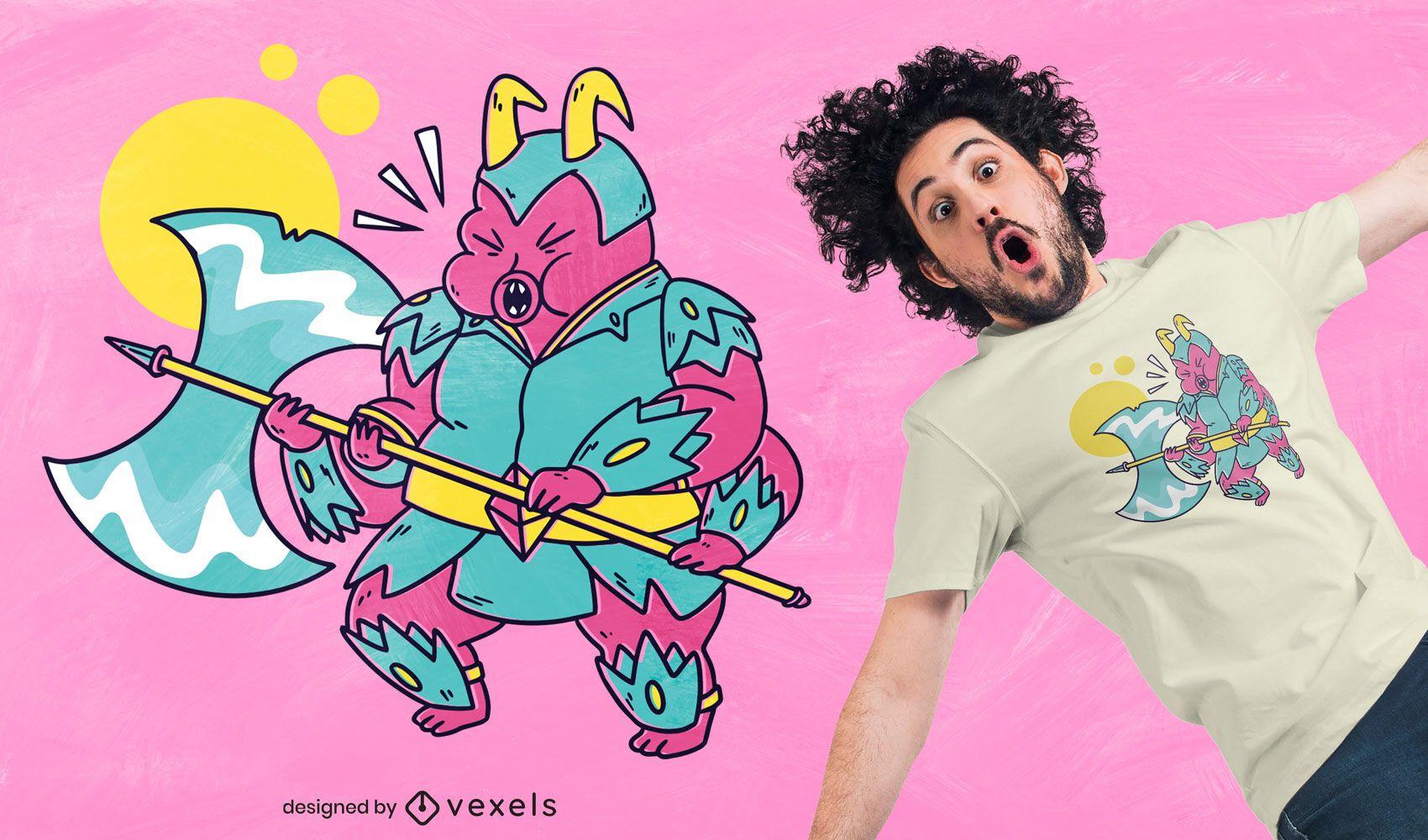 Berserker tardigrade t-shirt design