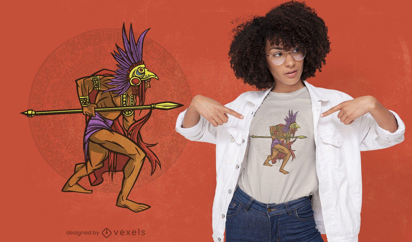 Aztekisches Krieger-T-Shirt-Design