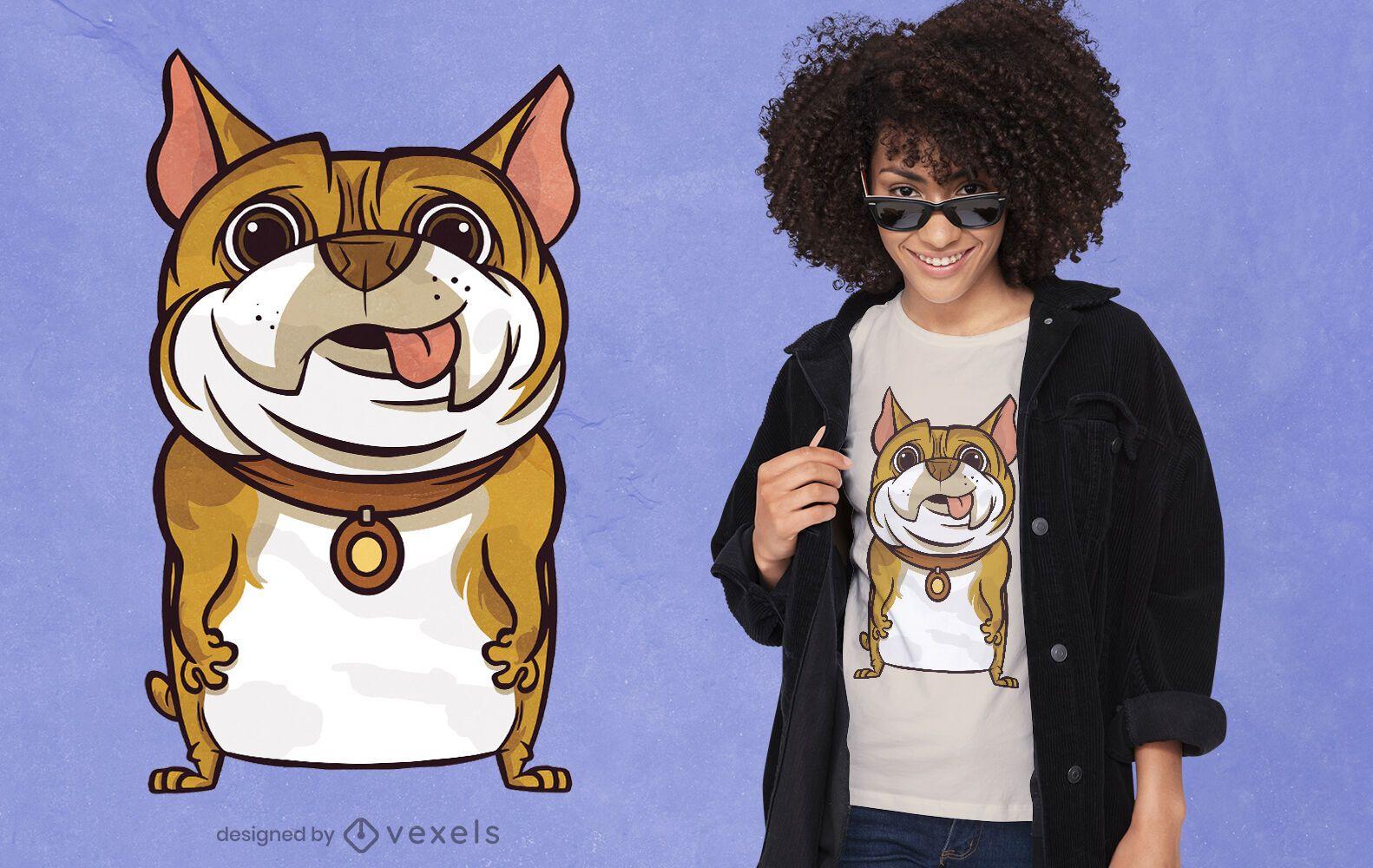 Desenho de t-shirt de cão de desenho animado