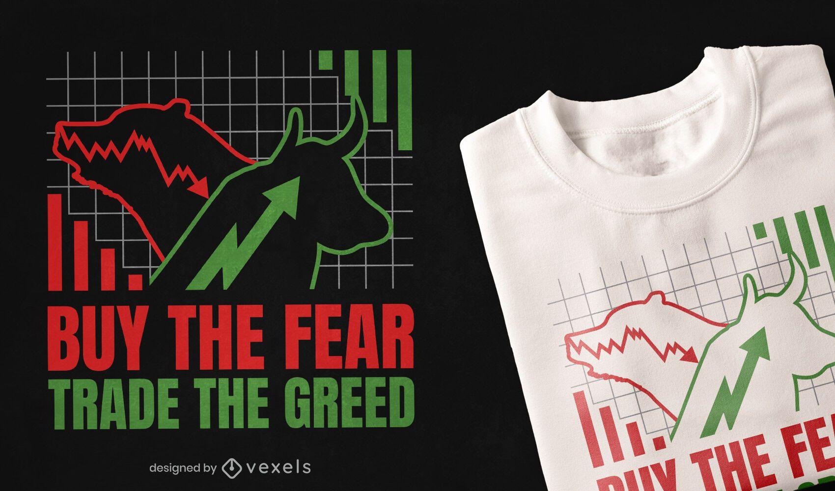 Diseño de camiseta de cotización bursátil.