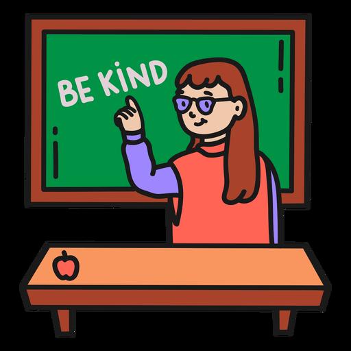 Teacher color stroke