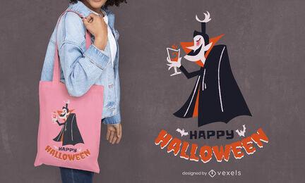 Halloween Dracula vampire tote bag