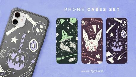 Esoteric halloween phone case set