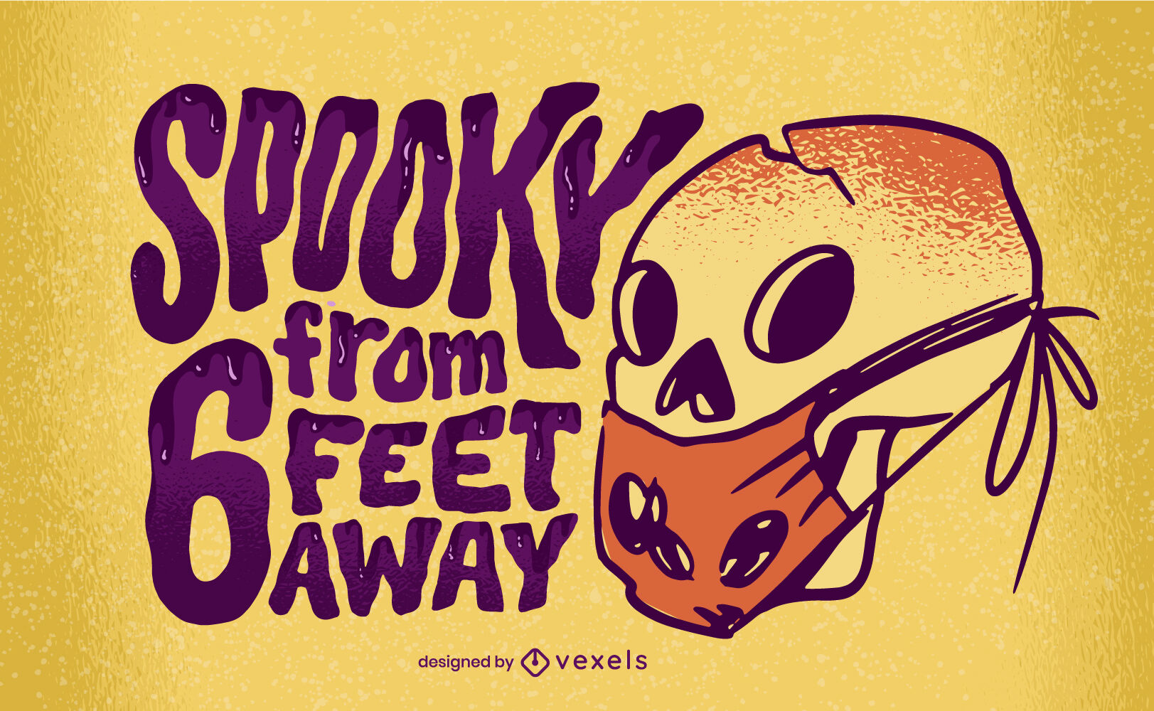 Halloween covid lettering