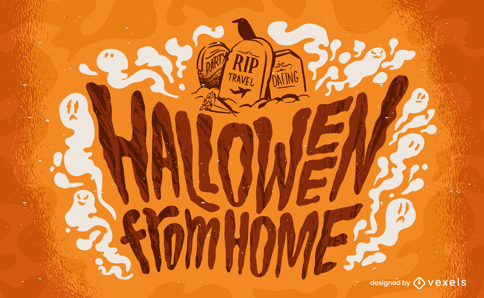 Halloween from home lettering
