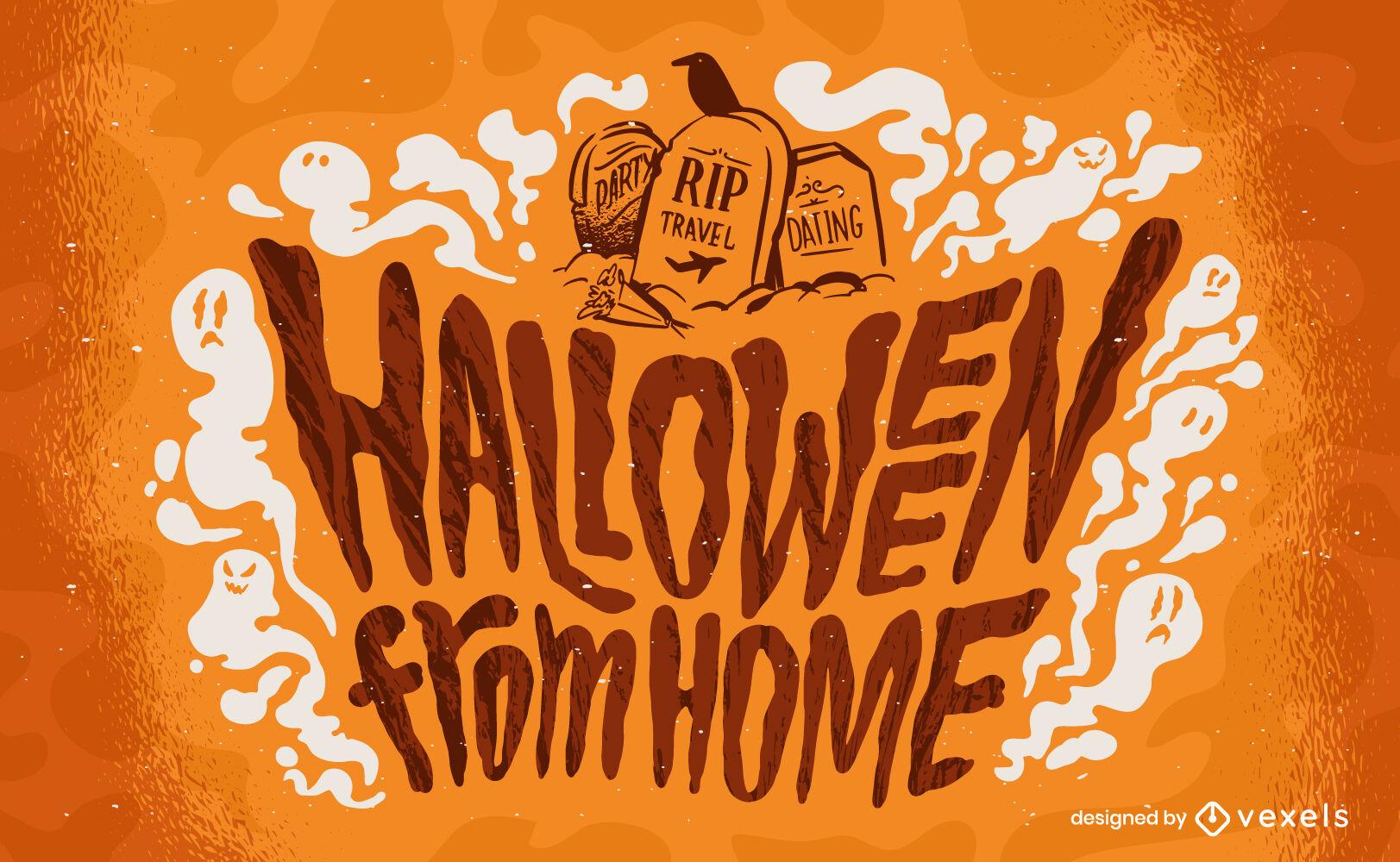 Letras de Halloween em casa