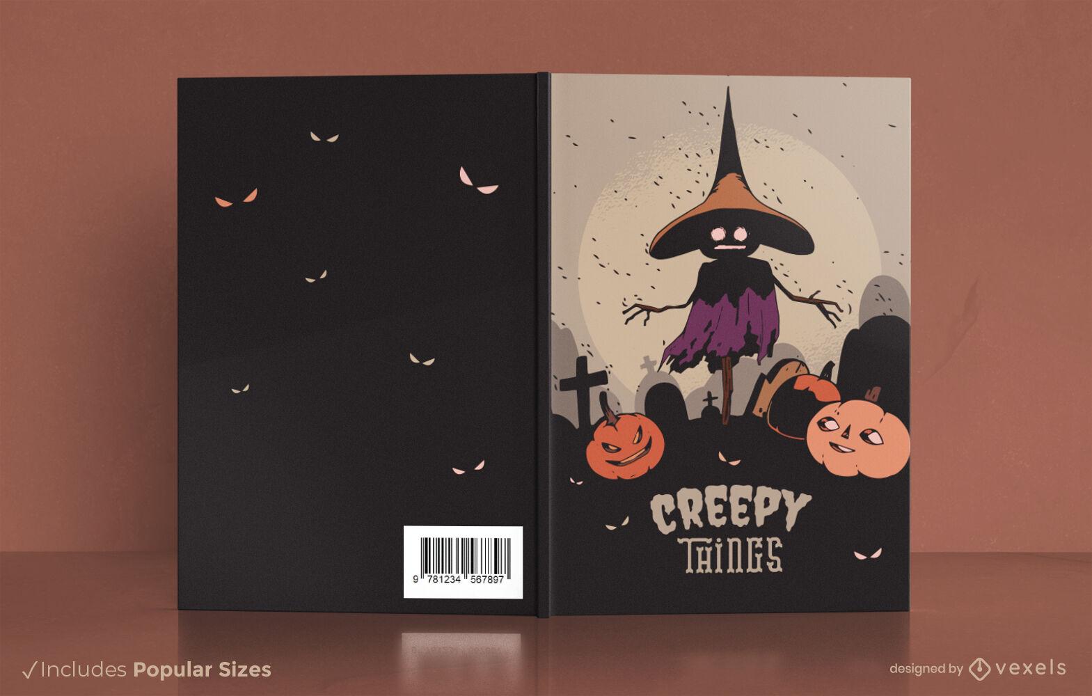 Scarecrow halloween book cover design