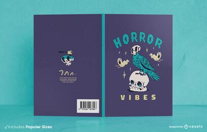 Halloween bird skull book cover design