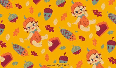 Thanksgiving holiday pattern design