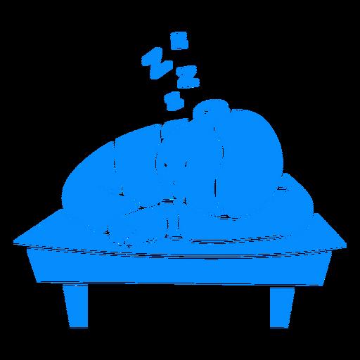 Child boy sleeping on desk