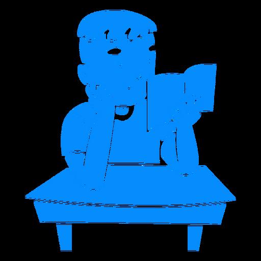 Reading school boy cut out