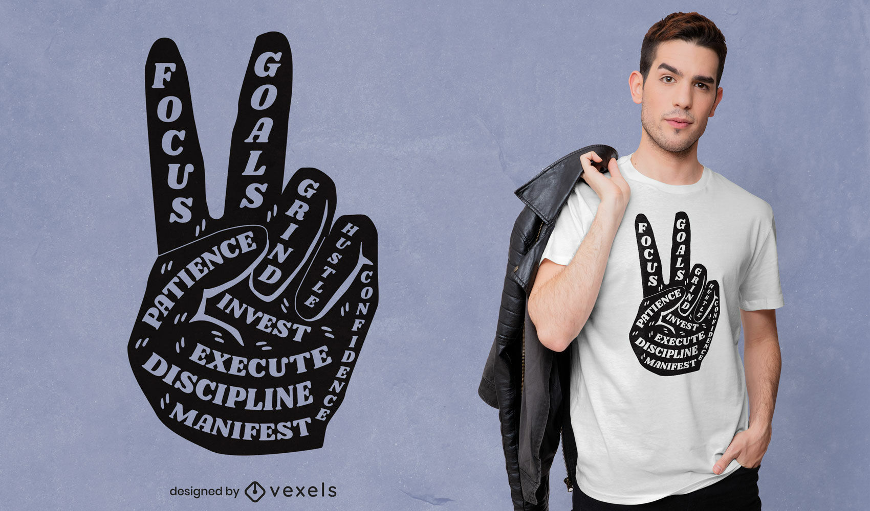Peace sign inspirational quote t-shirt design