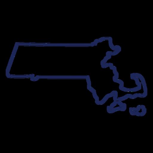 Massachusetts state stroke map