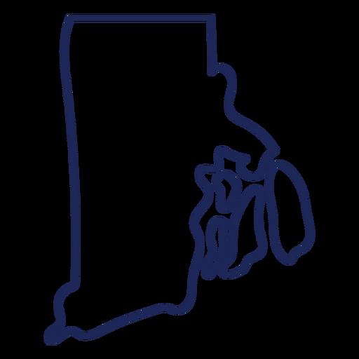 Rhode island state stroke map