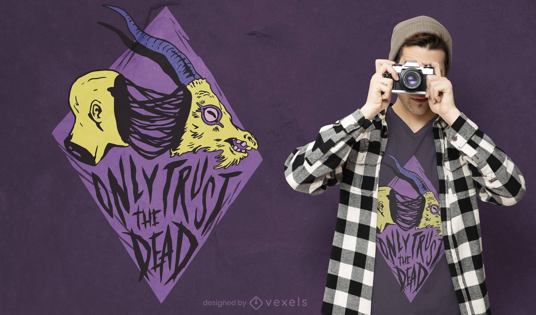 Design de camiseta com citação de monstro de Halloween
